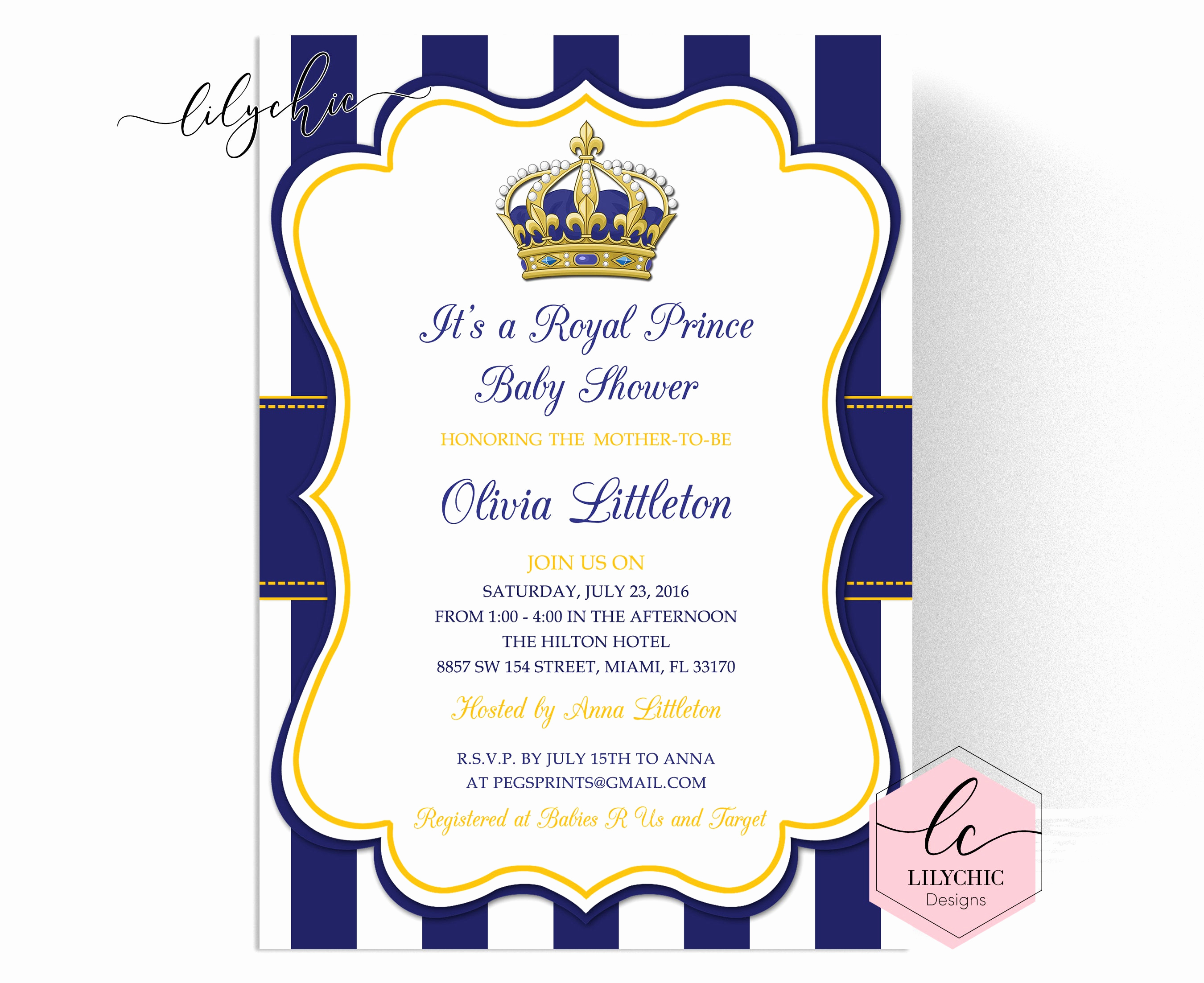 Royal Baby Shower Invitation Awesome Royal Prince Baby Shower Invitations Little Prince Baby