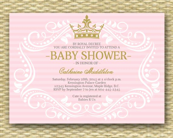 Royal Baby Shower Invitation Inspirational Royal Princess Baby Shower Invitation Little Princess Baby