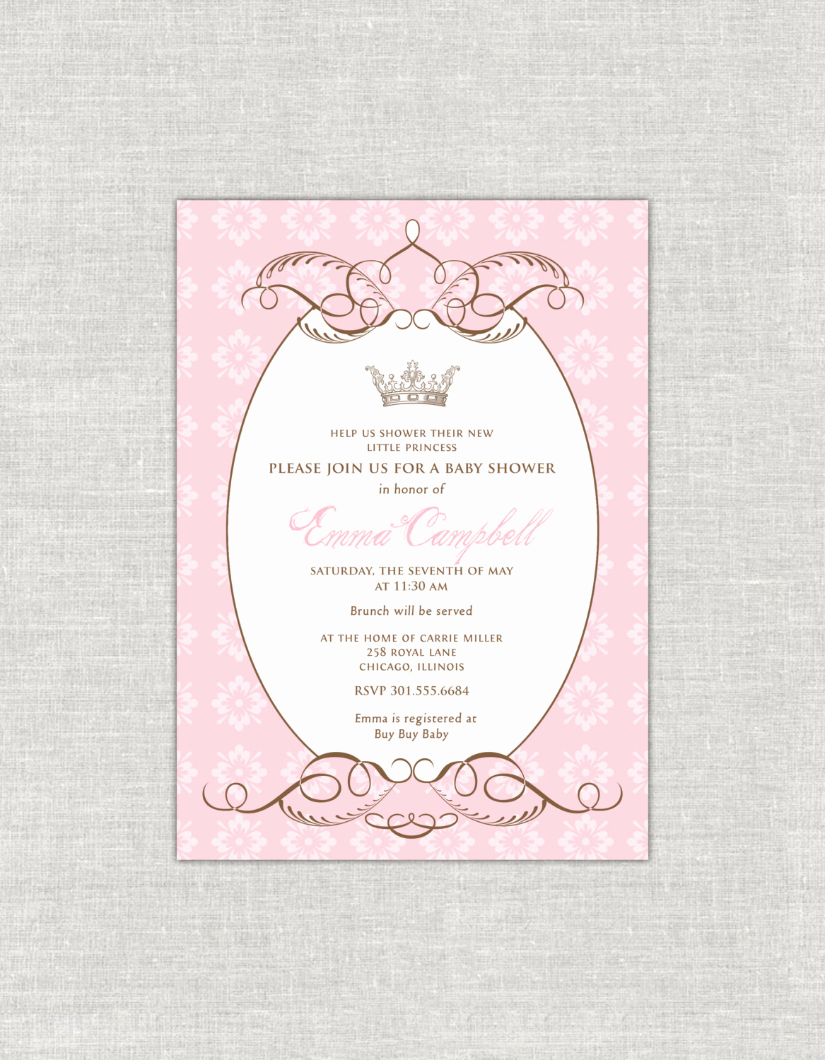Royal Baby Shower Invitation Luxury Royal Baby Shower Invitation Princess Shower by