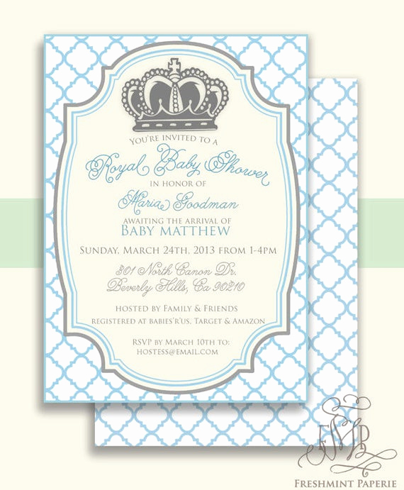 Royal Baby Shower Invitation New Royal Baby Shower Invitation Baby Shower Invitation Prince