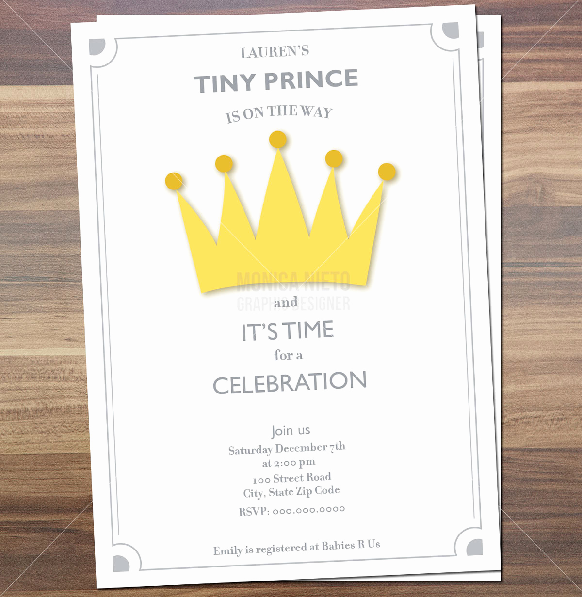 Royal Baby Shower Invitation Templates Beautiful Printable Royal Prince Baby Shower Invitation Little Prince