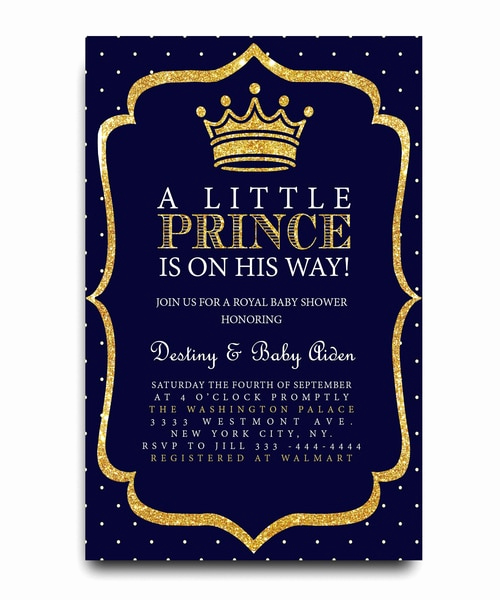 Royal Baby Shower Invitation Templates Fresh Little Prince Baby Shower Invitation Royal Baby