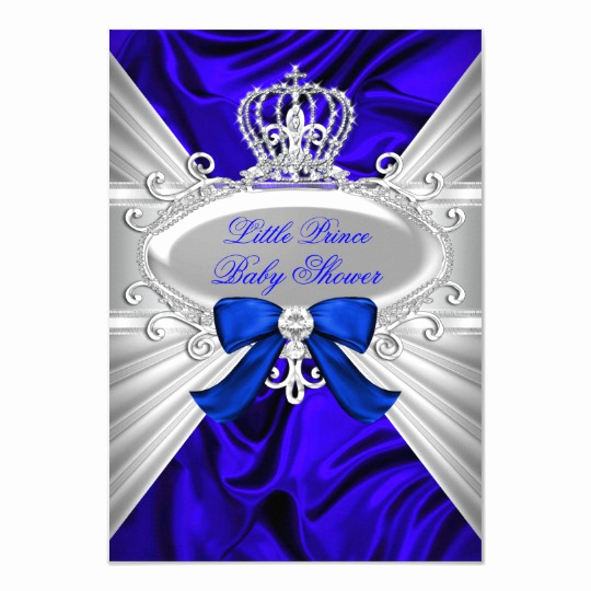 Royal Baby Shower Invitation Templates Inspirational Little Prince Royal Blue Boy Baby Shower Invite