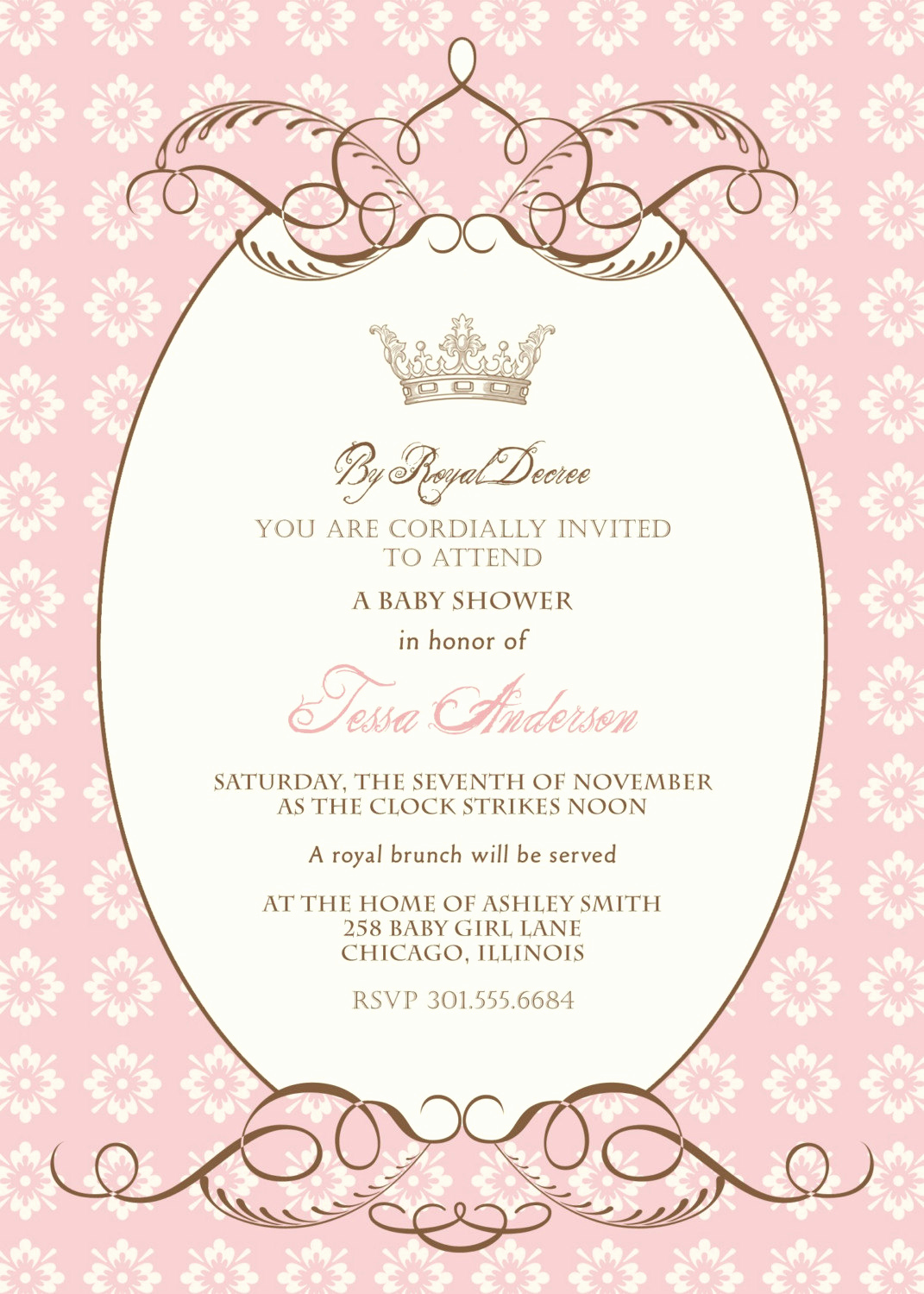 Royal Baby Shower Invitation Templates Inspirational Royal Decree Baby Shower Invitation