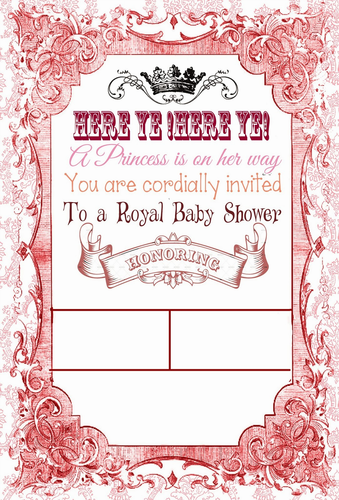 Royal Baby Shower Invitation Templates Lovely I Do A Dime Free Royal Baby Shower Invite Template