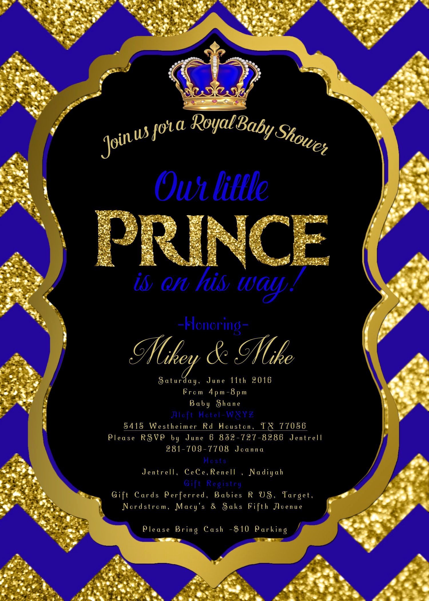Royal Baby Shower Invitation Templates Lovely Royal Baby Shower Invitation Royal Prince Invite