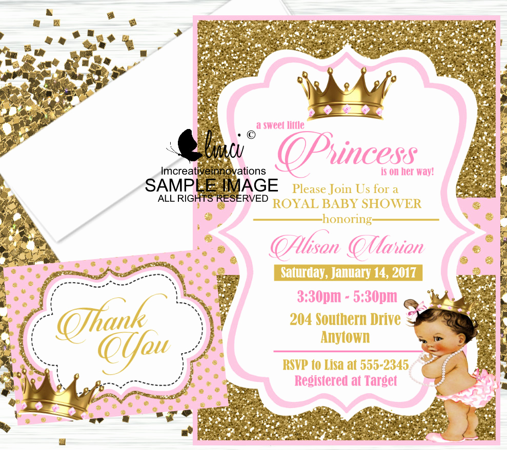 Royal Baby Shower Invitation Templates Luxury Royal Princess Baby Shower Invitation Little Princess