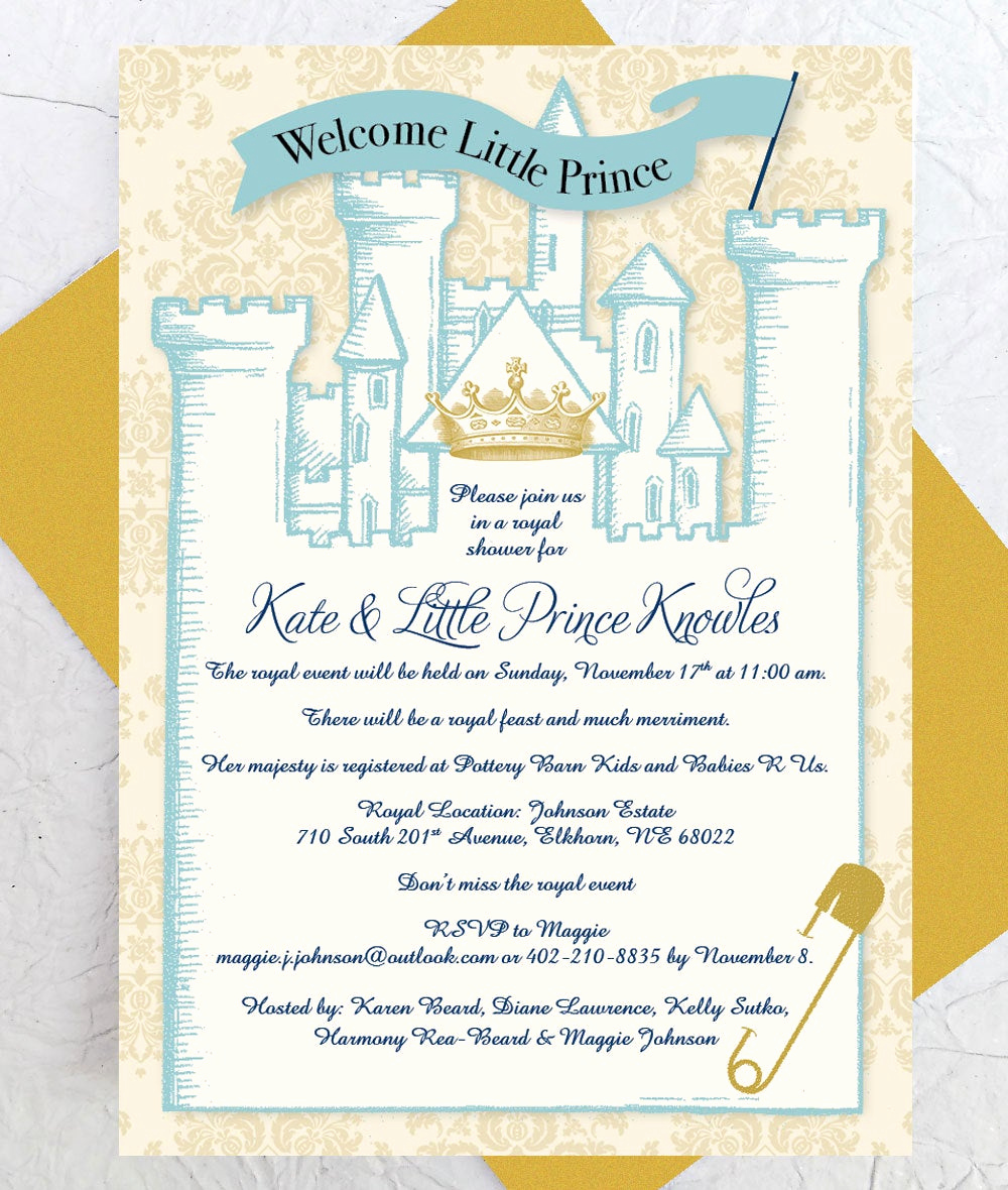 Royal Baby Shower Invitation Templates New Royal Baby Shower Invitation Instant Download Castle