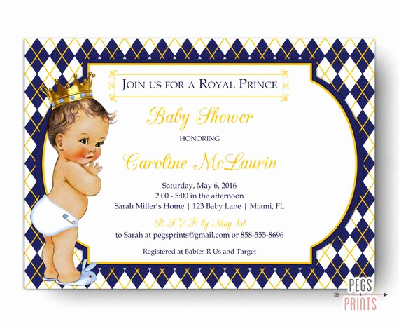 Royal Baby Shower Invitation Wording Awesome Royal Prince Baby Shower Invitation Royal Baby Shower
