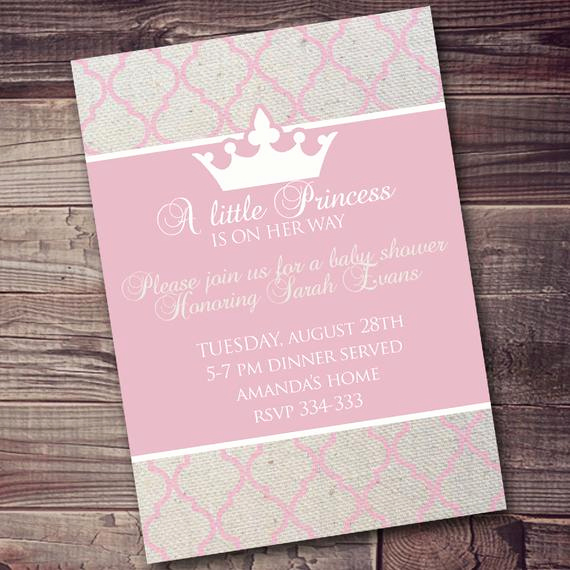 Royal Baby Shower Invitation Wording Awesome Royal Princess Baby Shower Invitation Princess Party