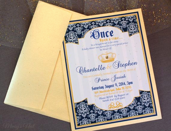Royal Baby Shower Invitation Wording Elegant Royal Blue and Gold Prince Baby Shower Invitations Crowns