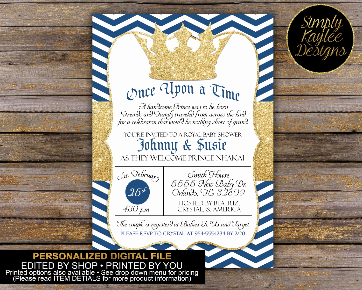Royal Baby Shower Invitation Wording Unique Royal Baby Shower Invitation Little Prince Baby Shower