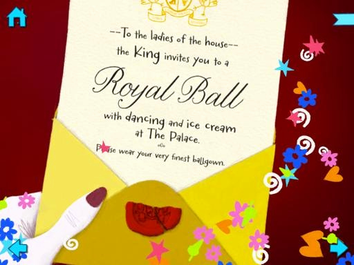 Royal Ball Invitation Template Free Awesome Ipad Books for Kids Cinderella by Nosy Crow