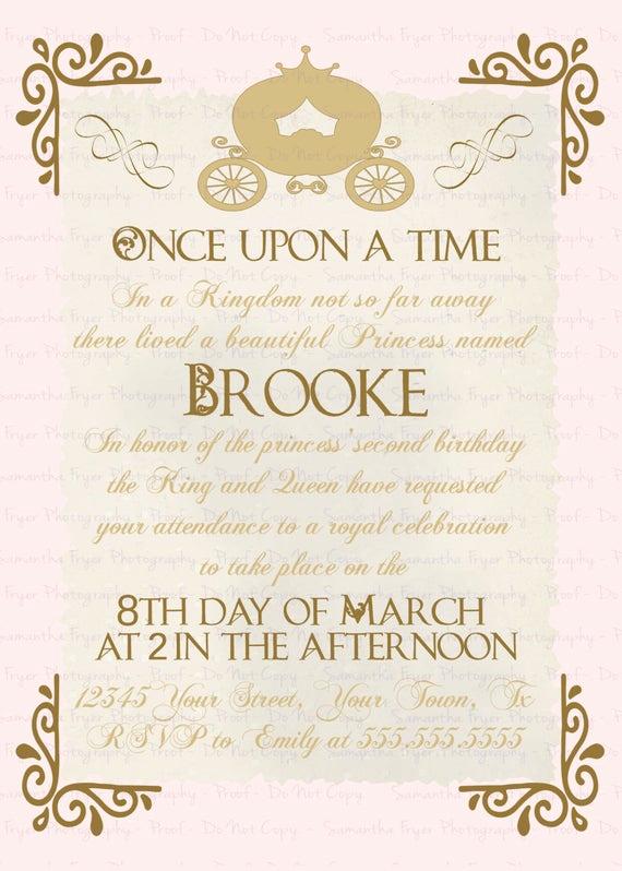 Royal Ball Invitation Template Free Awesome Royal Ball Birthday Invitation by Gigglebb On Etsy
