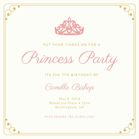 Royal Ball Invitation Template Free Best Of Birthday Invitation Templates Canva