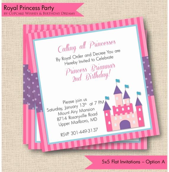 royal princess printable party invitations
