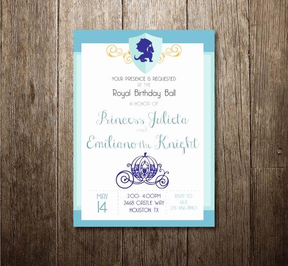 Royal Ball Invitation Template Free Fresh Princess & Knight Invitation Royal Ball Invitation
