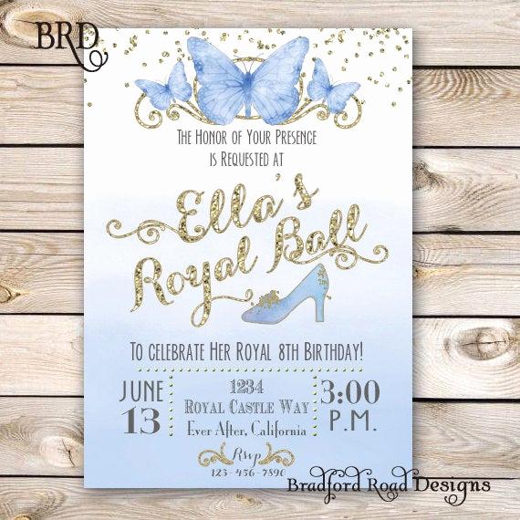 Royal Ball Invitation Template Free Inspirational Cinderella Invitation Cinderella Party Cinderella Birthday