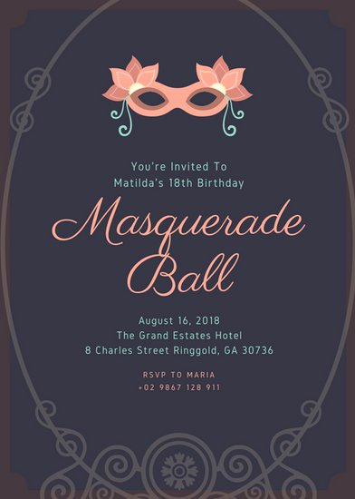 Royal Ball Invitation Template Free Lovely Customize 1 023 18th Birthday Invitation Templates Online