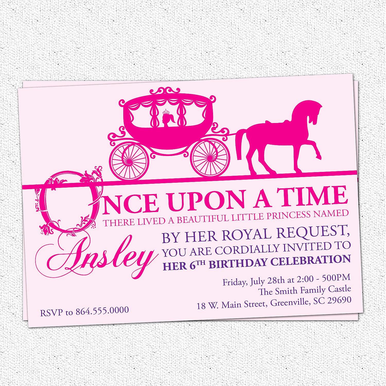 Royal Ball Invitation Template Free Lovely Princess Birthday Party Invitation Printable Girl by