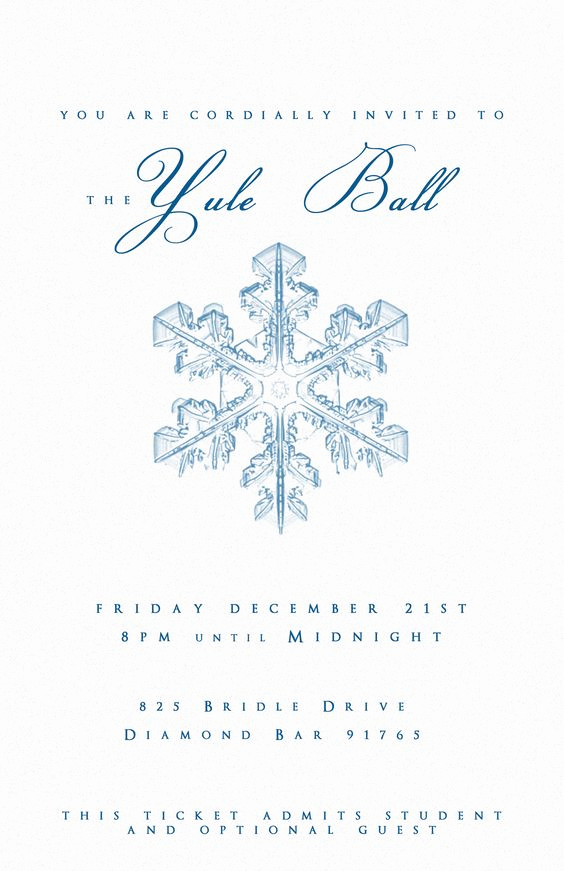 Royal Ball Invitation Template Free Lovely Yule Ball Party Invitation Template