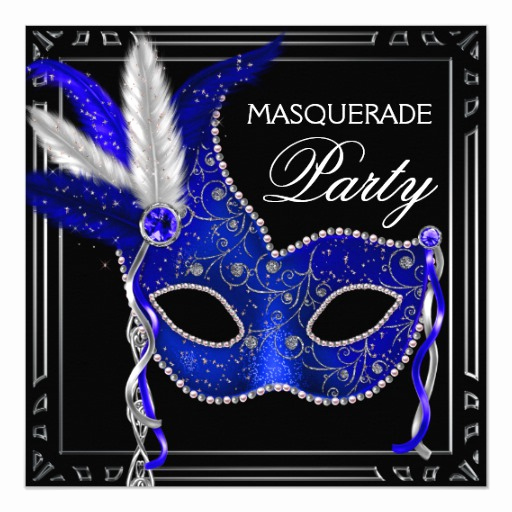 Royal Ball Invitation Template Free Luxury Royal Navy Blue Mask Masquerade Party Invitation