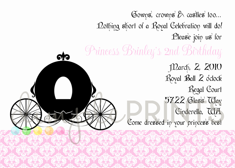 Royal Ball Invitation Wording Awesome Princess Royal Ball Printable Invitation Dimple Prints Shop