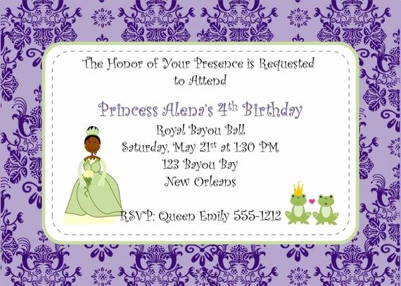 Royal Ball Invitation Wording Best Of Frog Princess Royal Bayou Ball Printable Invitations