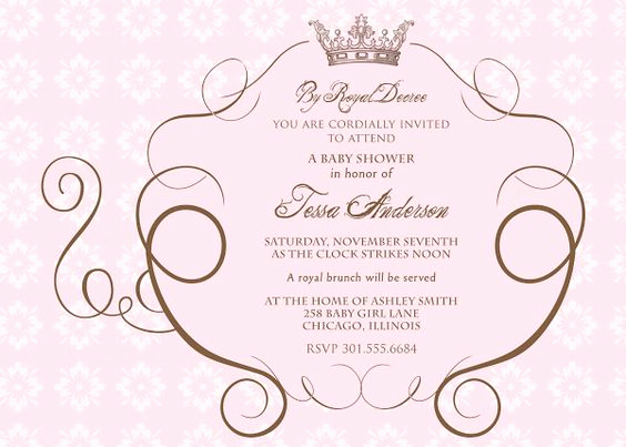 Royal Ball Invitation Wording Fresh Cinderella S Royal Carriage Baby Shower Invitation