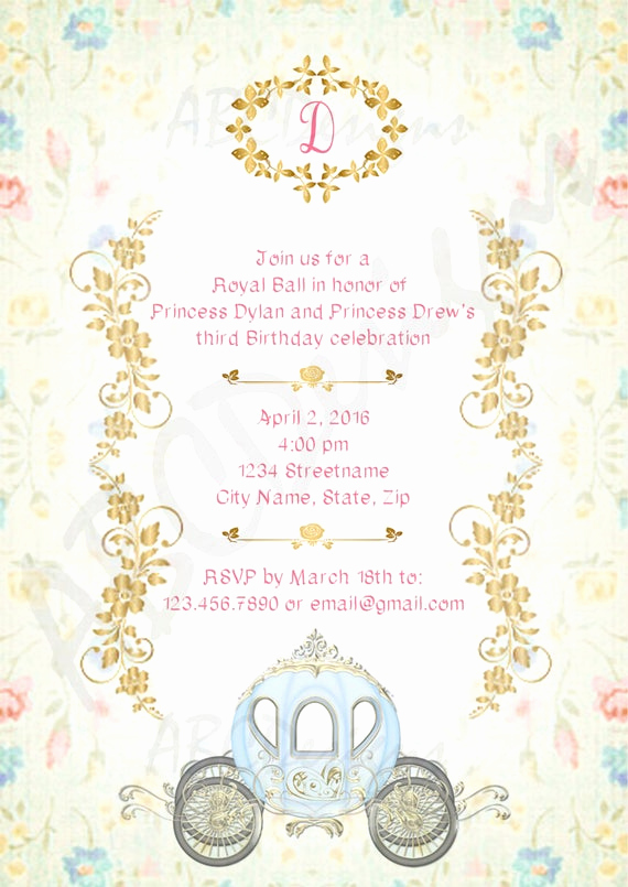 Royal Ball Invitation Wording Inspirational Royal Ball Birthday Girl Invitation & Thank You Note