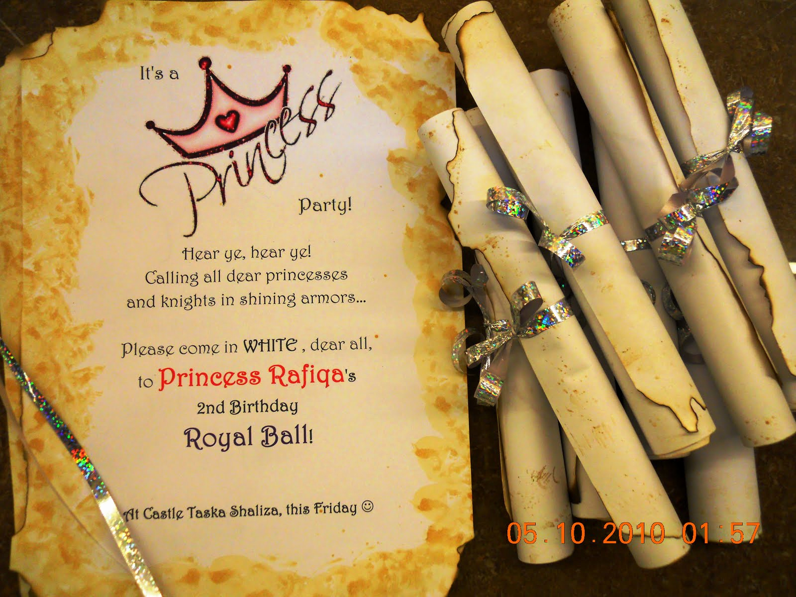 Royal Ball Invitation Wording New Kids Fun Party