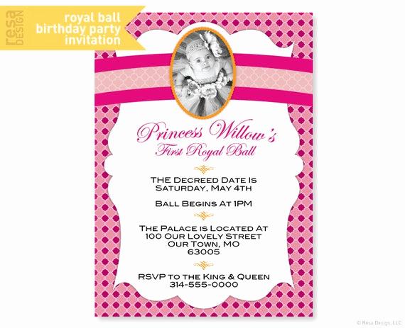 Royal Ball Invitation Wording Unique Items Similar to Royal Ball Party Invitation Princess