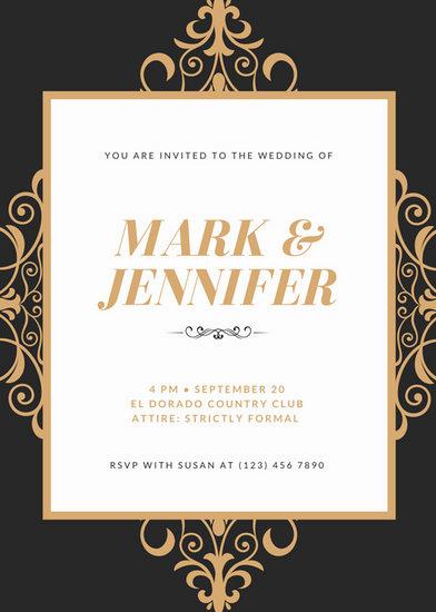 Royal Wedding Invitation Template Luxury Customize 1 381 Wedding Invitation Templates Online Canva