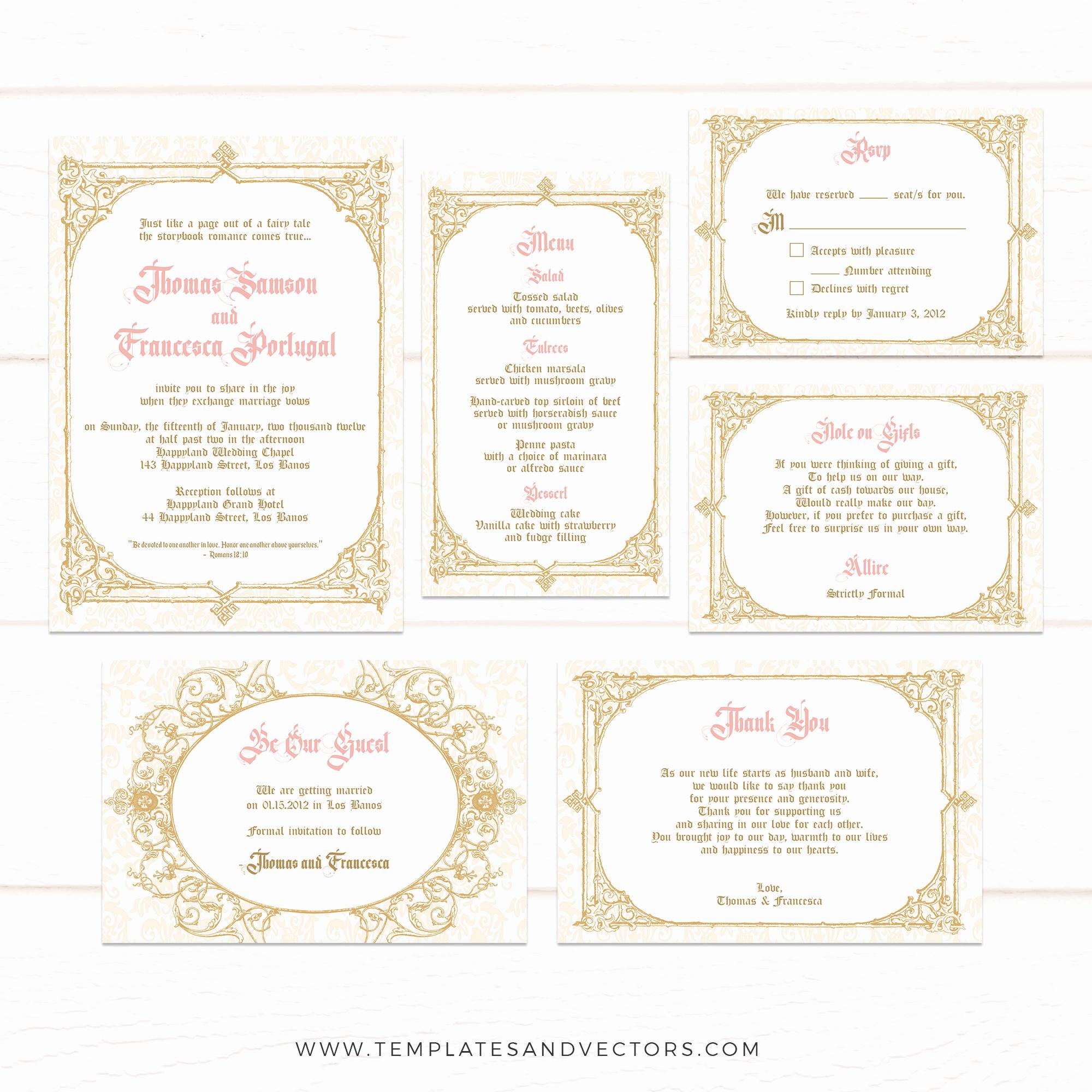 Royal Wedding Invitation Template Luxury Tvw184 Be Our Guest Royal Wedding Invitation Template