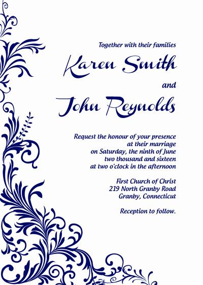 Royal Wedding Invitation Template Unique Free Pdf Download Foliage Border Wedding Invitation