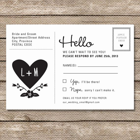 Rsvp Wedding Invitation Wording Beautiful Postcard Rsvp Maybe Cheaper Than Including An Envelope