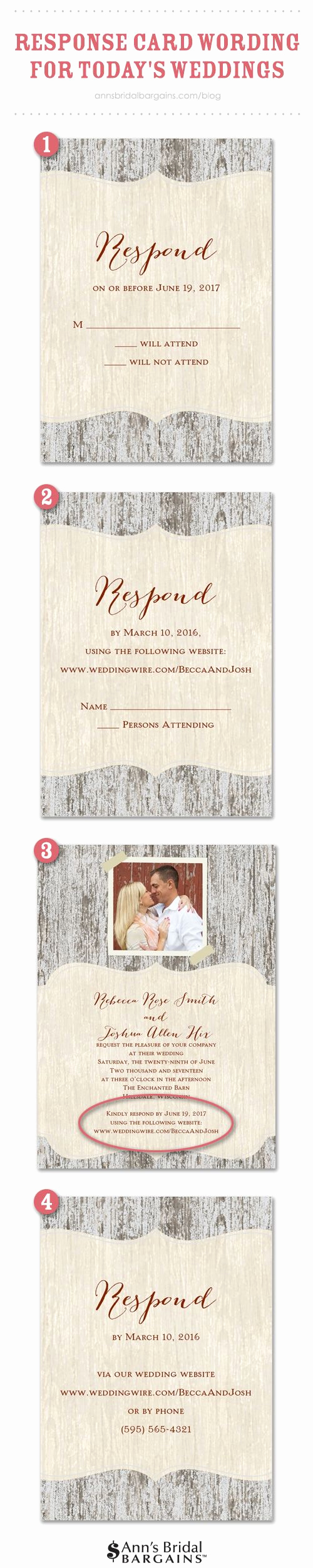 Rsvp Wedding Invitation Wording Best Of Response Card Wording Examples for Line Rsvps