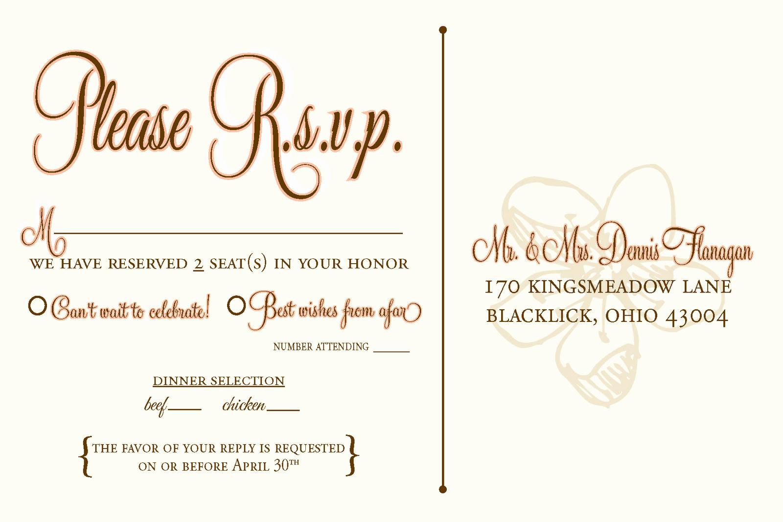 Rsvp Wedding Invitation Wording Lovely Wedding Rsvp Wording Google Search