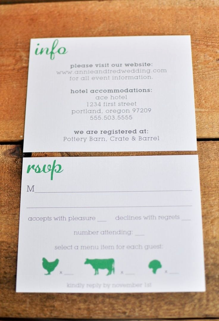 Rsvp Wedding Invitation Wording New Rsvp Postcard with Food Choice Google Search