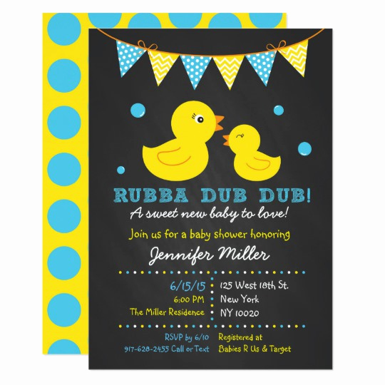 Rubber Duck Baby Shower Invitation Best Of Chalkboard Rubber Duck Baby Shower Invitation