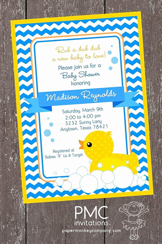 Rubber Duck Baby Shower Invitation Best Of Duck Baby Showers Rubber Duck and Baby Shower Invitations