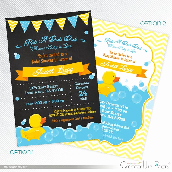 Rubber Duck Baby Shower Invitation Elegant Blue Rubber Duck Baby Shower Invitation