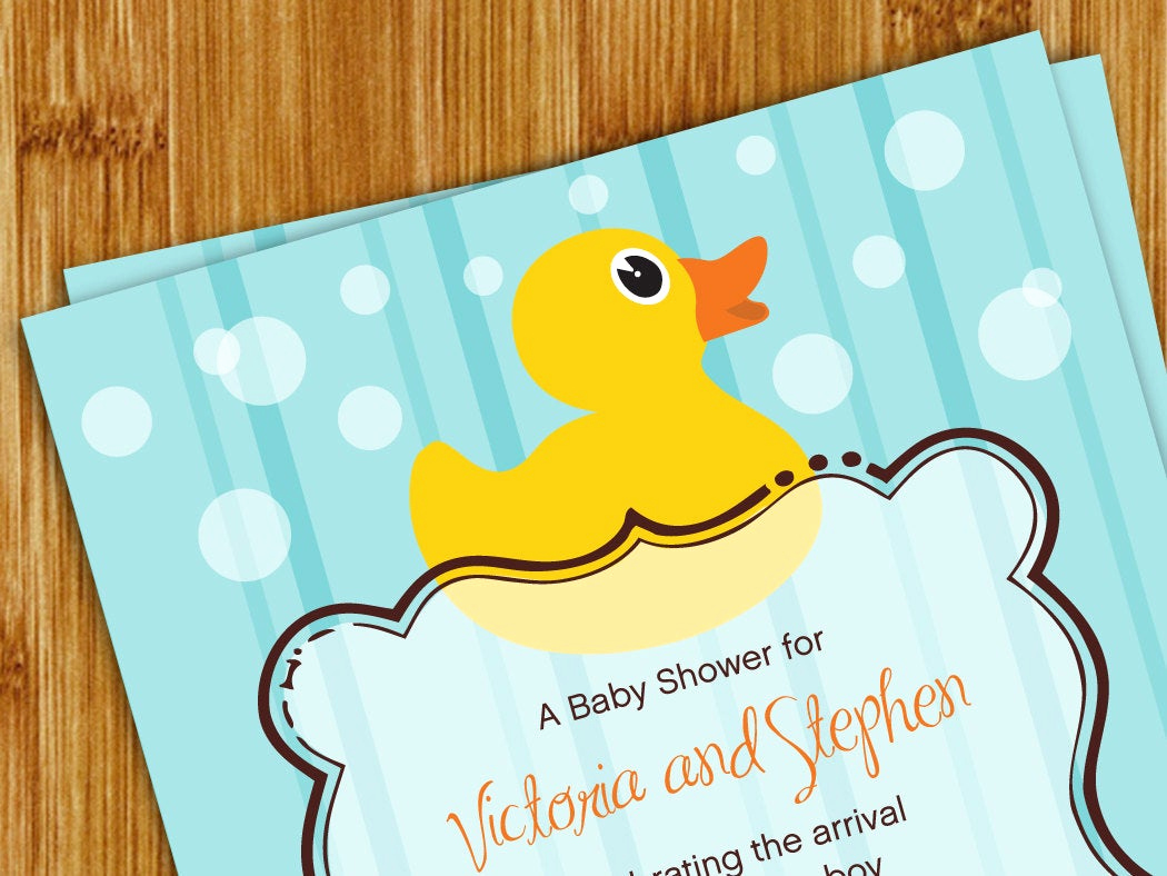 Rubber Duck Baby Shower Invitation Fresh Rubber Ducky Baby Shower Invitation 5x7 by Detailsbeyonddesign