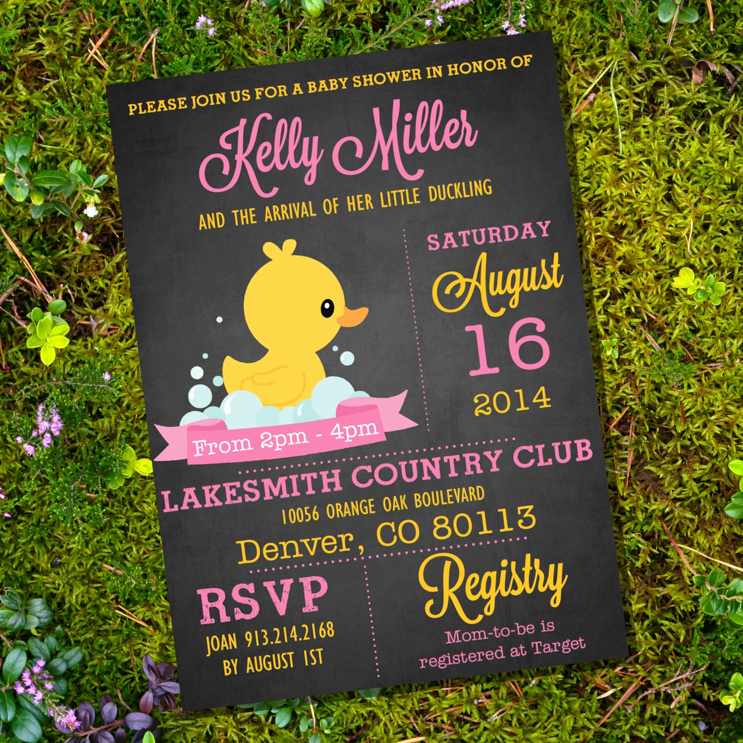 Rubber Duck Baby Shower Invitation Inspirational Chalkboard Rubber Duck Baby Shower Invitation Girl Baby