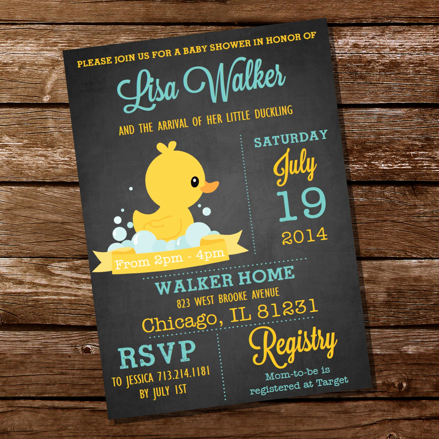 Rubber Duck Baby Shower Invitation Lovely Chalkboard Rubber Duck Baby Shower Invitation Instant