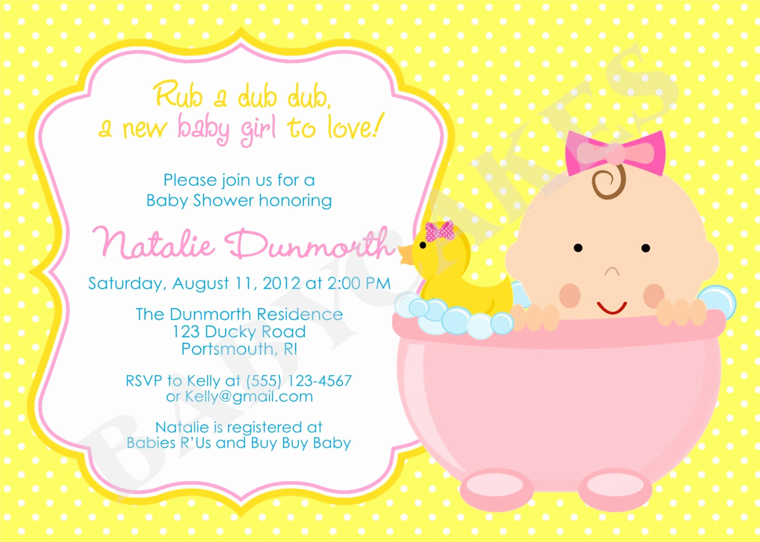 Rubber Duck Baby Shower Invitation Luxury Kitchen & Dining