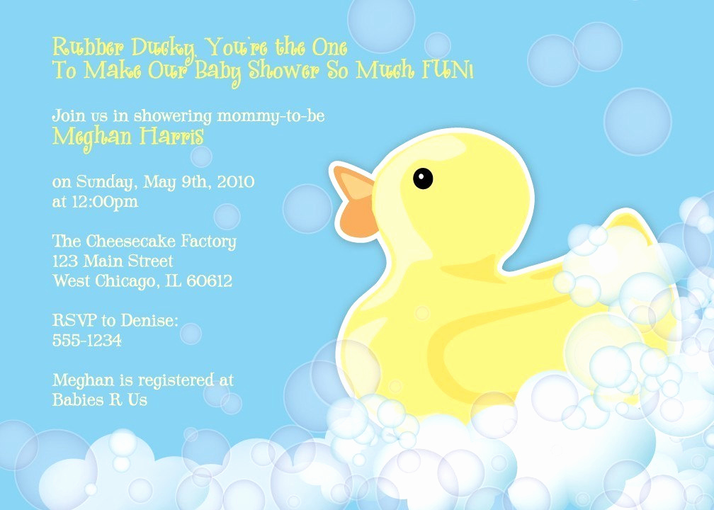 Rubber Duck Baby Shower Invitation Luxury Rubber Duckie Baby Shower Invitation Rubber Ducky Shower
