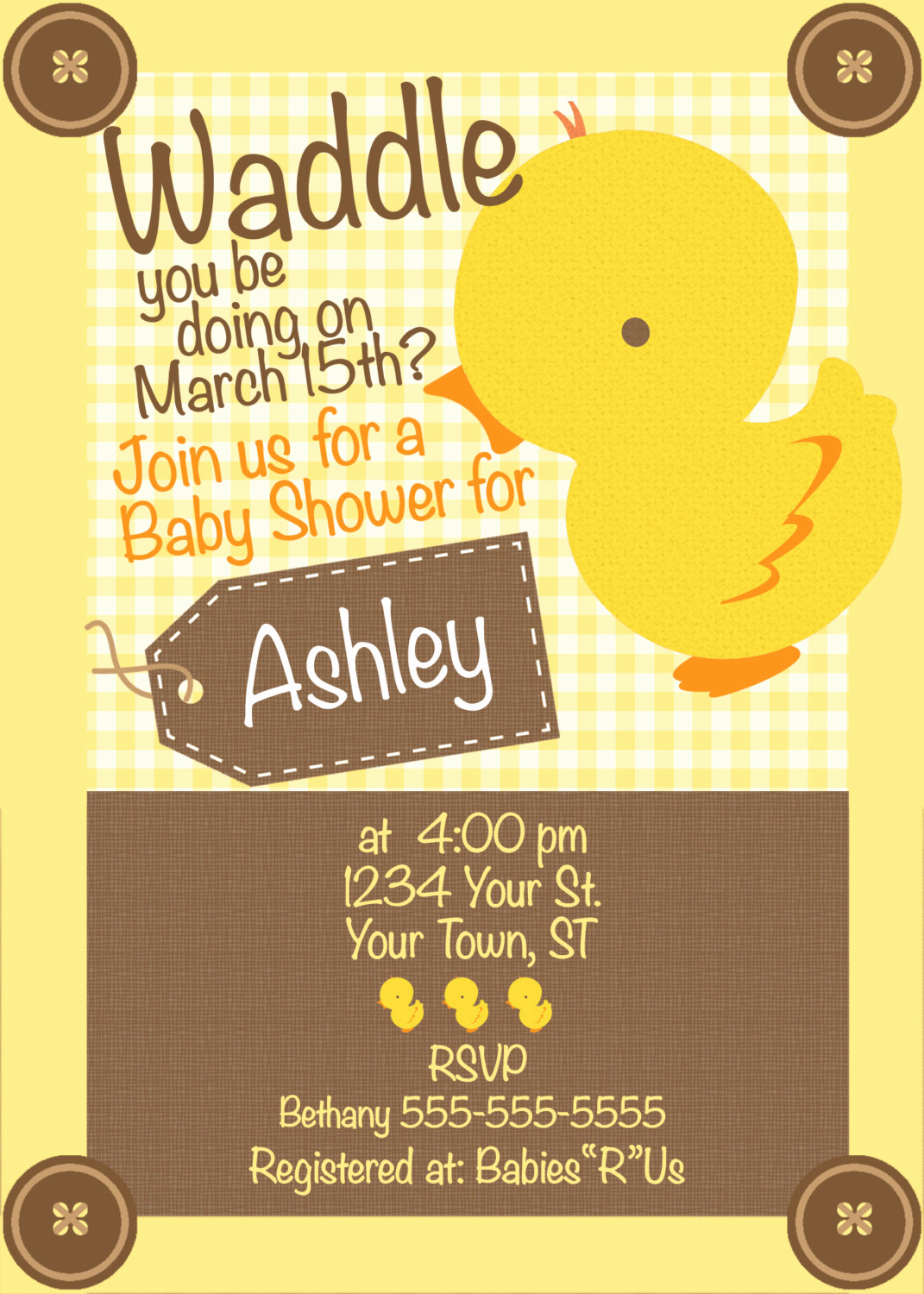 Rubber Duck Baby Shower Invitation New Duck Baby Shower Invitation