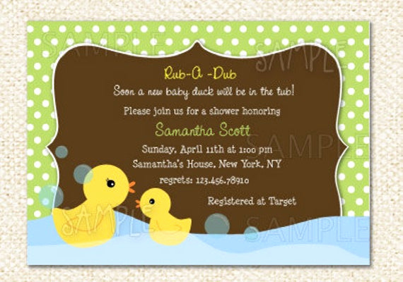 Rubber Duck Baby Shower Invitation New Rubber Duck Baby Shower Invitations