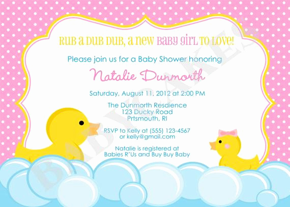 Rubber Duck Baby Shower Invitation Unique Items Similar to Rubber Duck Baby Shower Invitation Rubber